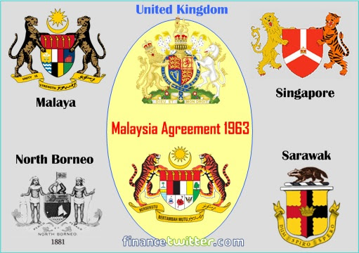Malaysia Agreement 1963 - Malaya - Singapore - North Borneo - Sarawak