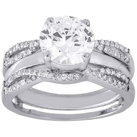 10k White Gold Diamond Solitaire Engagement Ring Enhancer