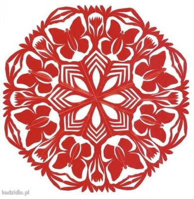 traditional polish style paper cut