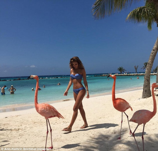 Ambitious: Ann, who began modelling at 16 is also a singer, reveals: 'Someone whose purpose in life it is to be the wife of someone, I cannot understand' Above, she walks in paradise on a shoot in Aruba