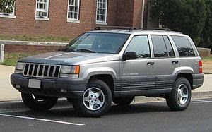 1996-1998 Jeep Grand Cherokee photographed in USA.