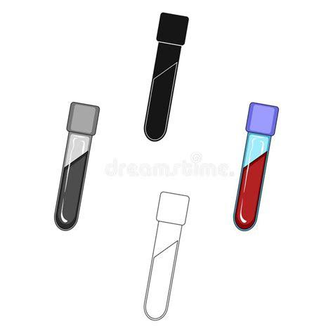 phiole mit blut einzelne ikone der medizin im
