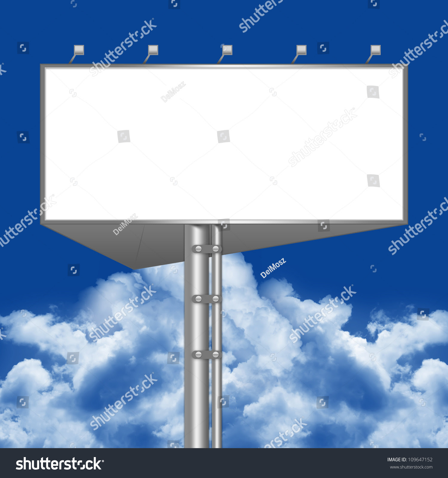 Blank Billboard Template With White Screen For Your Own Text ...