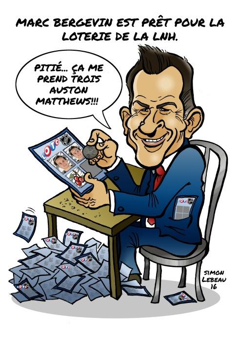Caricature de Marc Bergevin