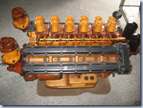 wooden Ferrari engine