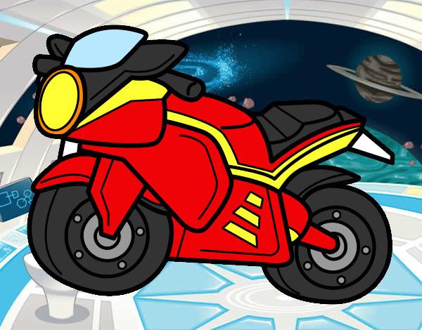 Dibujo De Moto Deportiva Pintado Por Javier 10 En Dibujosnet El Día