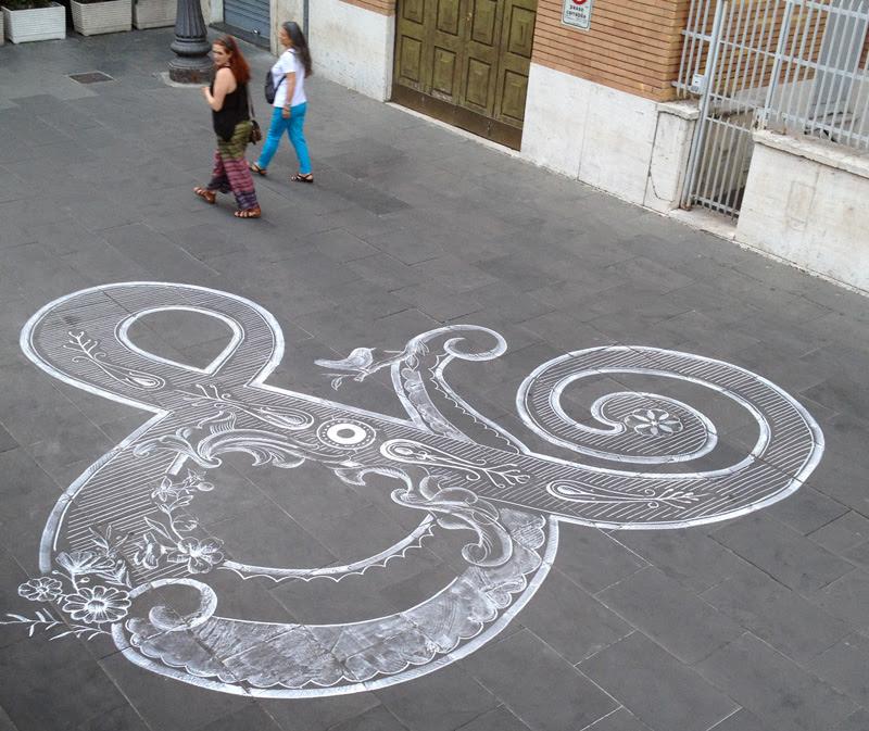 Chalk Ampersand by Tommaso Guerra typography chalk