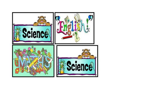 Visual timetable; subject labels by keden3 - Teaching Resources - TES