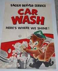 Eager Beaver Car Wash poster