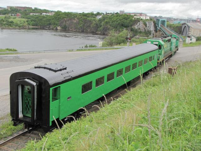 NBSR 5471 crossing the Reversing Falls bridge in Saint John, NB. Photo by Bob Boudreau