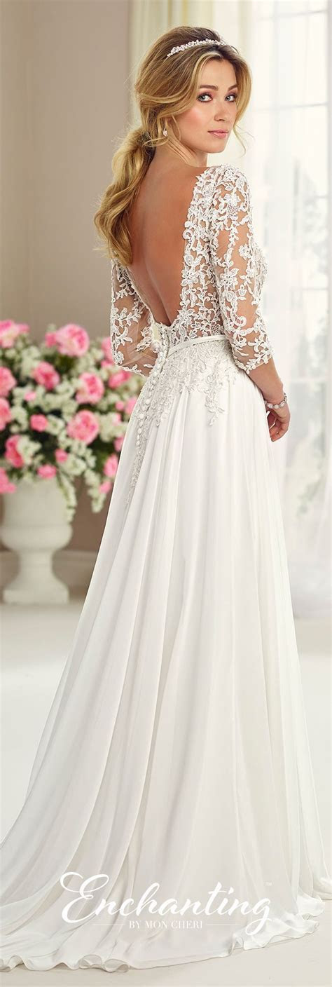 Chiffon Tulle & Lace Wedding Gown   Enchanting by Mon