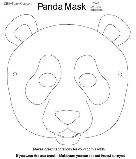 panda mask cut color pandas bear mask mask