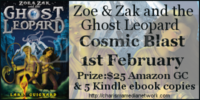 Zoe & Zak and The Ghost Leopard Cosmic Blast Banner