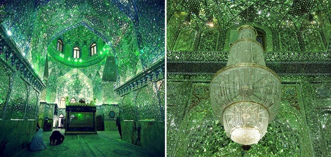 Imagens mostrando a beleza proibida da parte de dentro do templo mais sagrado do Irã