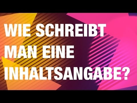 Deutschstundeonline Wie Schreibt Man Eine Inhaltsangabe