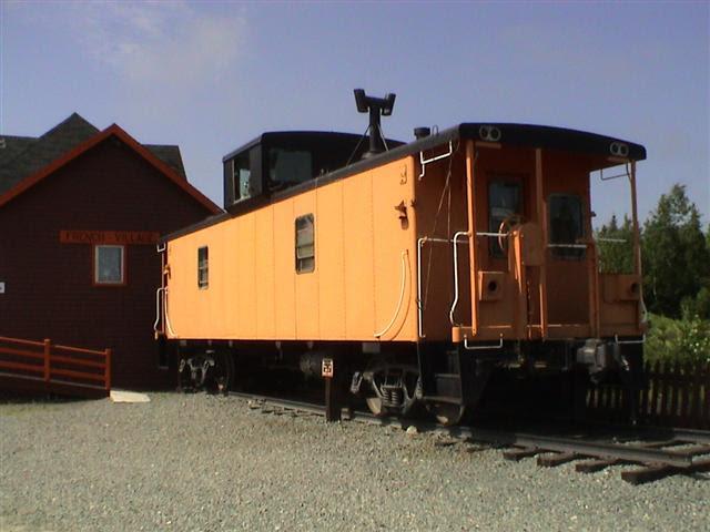 Ex-CN Caboose, French Village, Nova Scotia