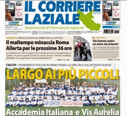 Una prima pagina del Corriere Laziale