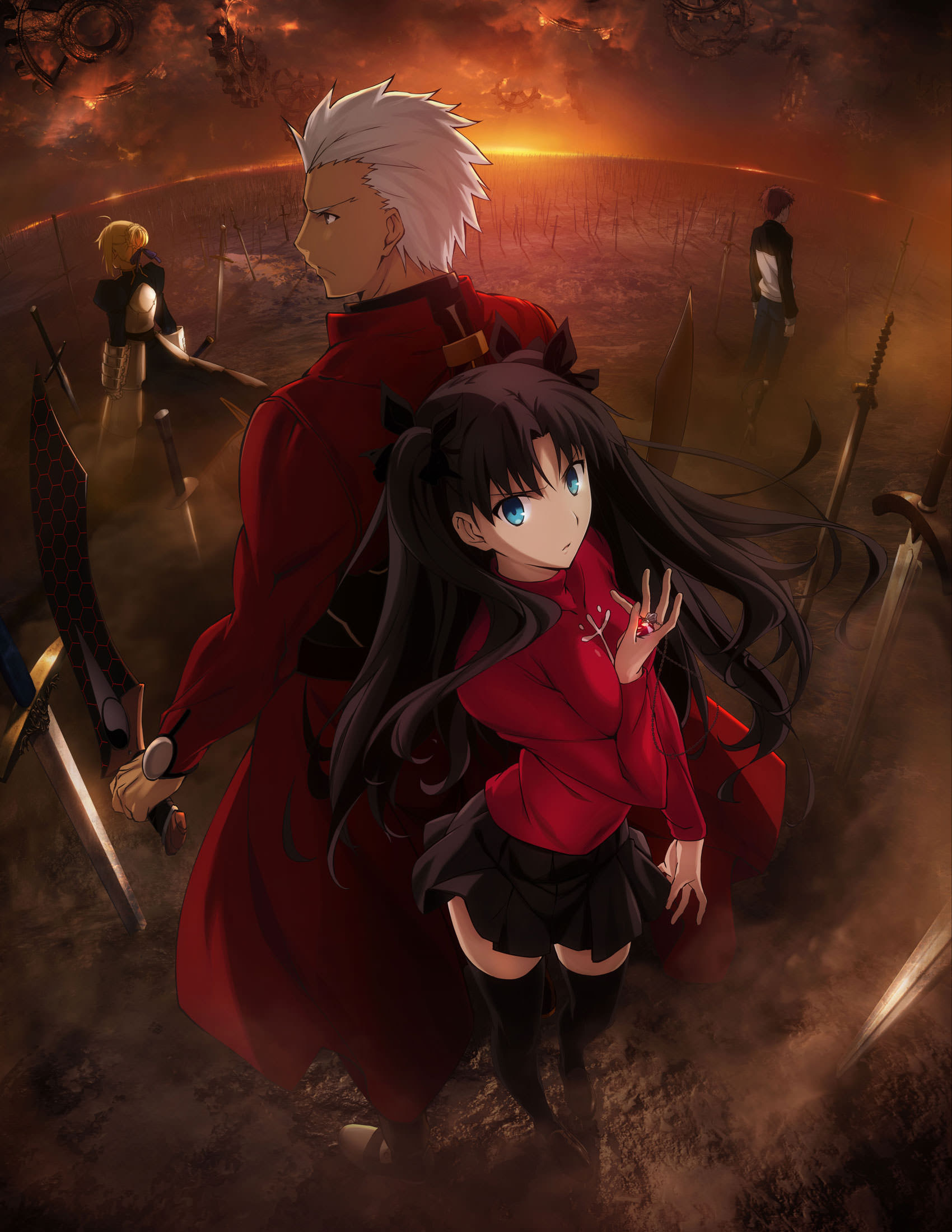 Fate Stay Night Unlimited Blade Works Key Visual Ufotable Anime