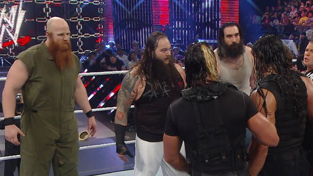 The Wyatt Family stand toe-to-toe with The Shield at WWE Elimination Chamber 2014
