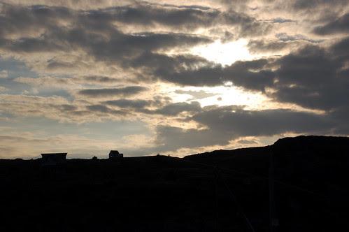 sunset behind Manana