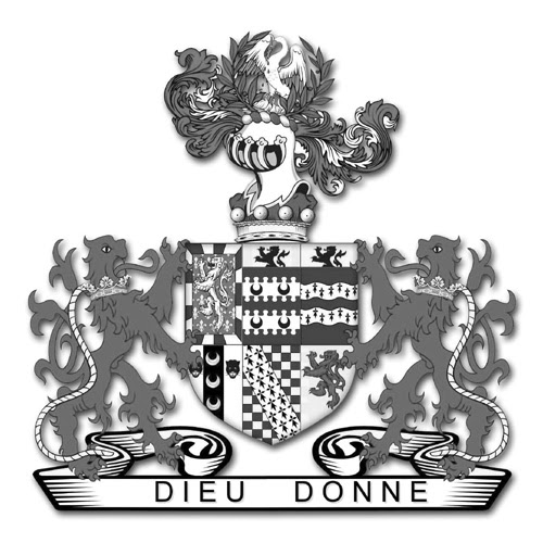 The arms of the 15th Baron Dudley