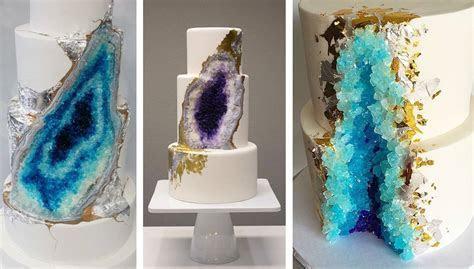 30 magnifiques gâteaux de mariage en cristal géode
