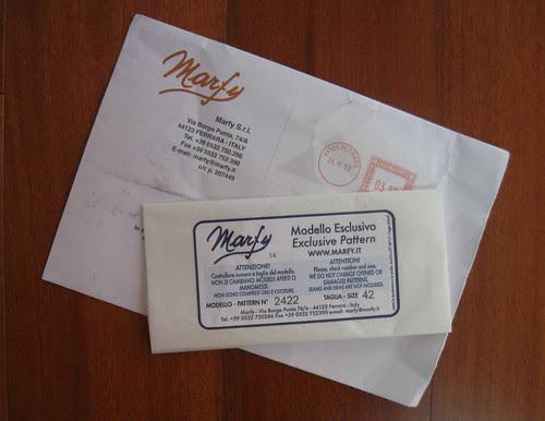 Marfy pattern envelope