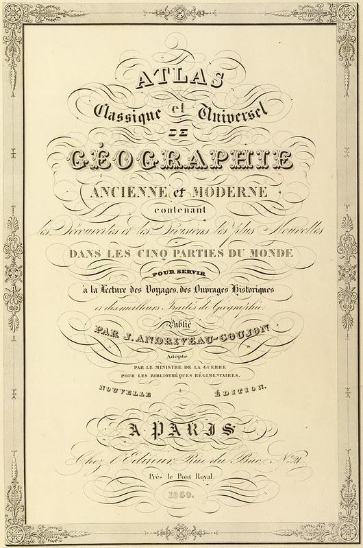 Atlas classique et universel de geographie ancienne et moderne 1850