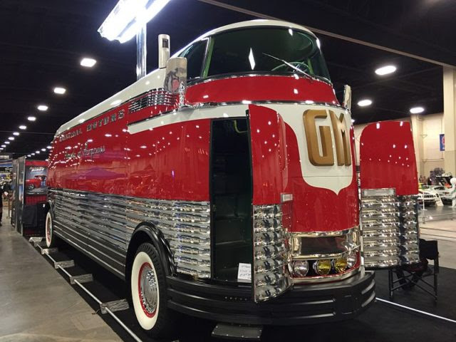 Front right of Futurliner #3 on display in Salt Lake City, UT Photo Credit