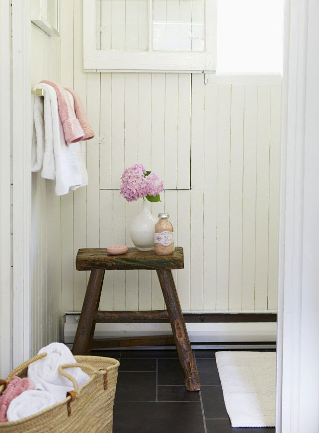 Farmhouse Bathroom. Anne Hepfer Designs.