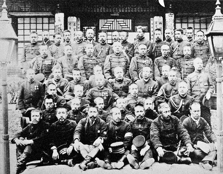 File:Japanese soldiers of the Sino Japanese War 1895.jpg