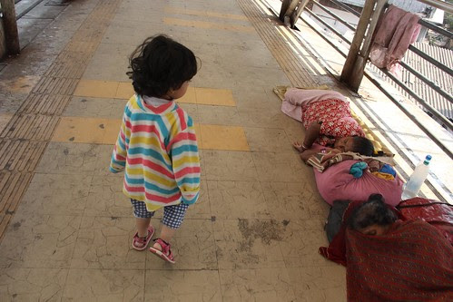 Learning Street Photography At Bandra Skywalk.. Nerjis Asif Shakir 2 Year Old by firoze shakir photographerno1