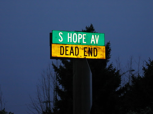 Street sign on Meridian