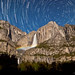 Yosemite Falls Moonbow Star Trails