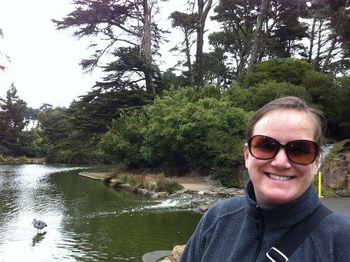 Suze and a great blue GG Park