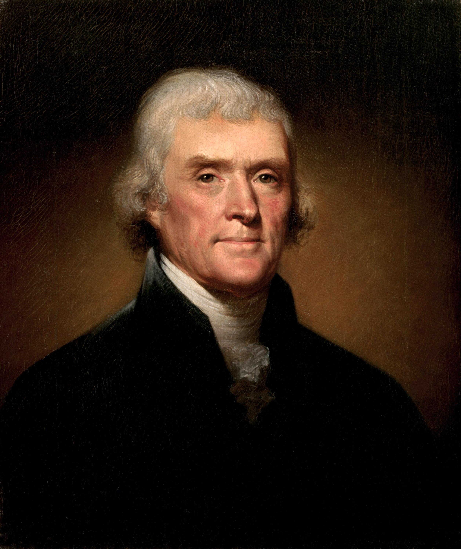 Rembrandt Peale Portrait of Thomas Jefferson