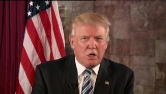 Trump agraint la nominació amb una videoconferència des de Nova York