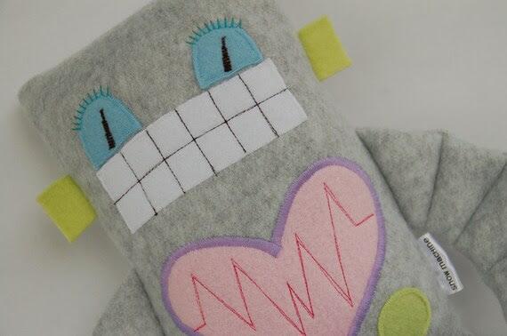 Robot Plushie Girly Medium