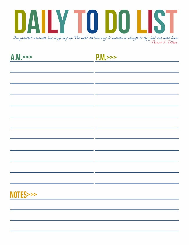 6 Best Images of Free Printable Daily Lists - Free Printable Daily ...
