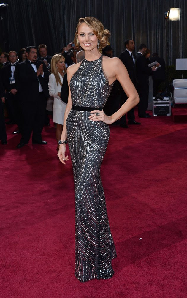 Stacy Keibler in Naeem Khan gown at the Oscars 2013