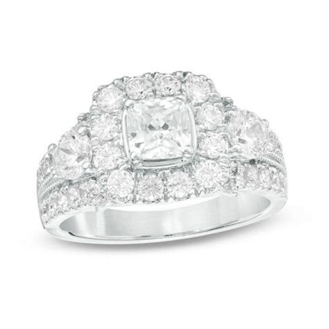 Celebration Grand® 2 CT. T.W. Cushion Cut Diamond Three