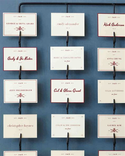 Good Things: Seating Displays and Table Numbers   Martha