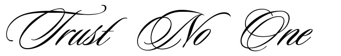 Trust No One Tattoo Design Pics Download