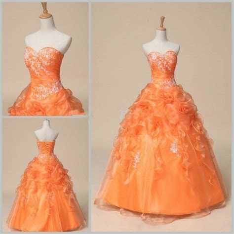 Cheap Formal Orange Prom Party Bridesmaid Dresses Ball