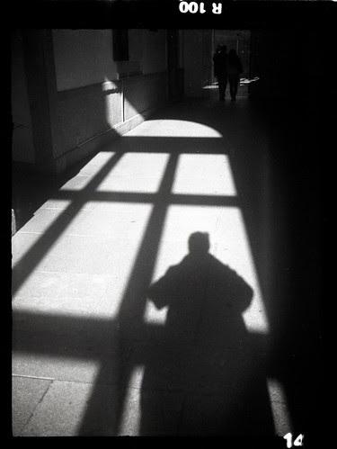 shadow self portrait at the Reine Sofia art centre by pho-Tony