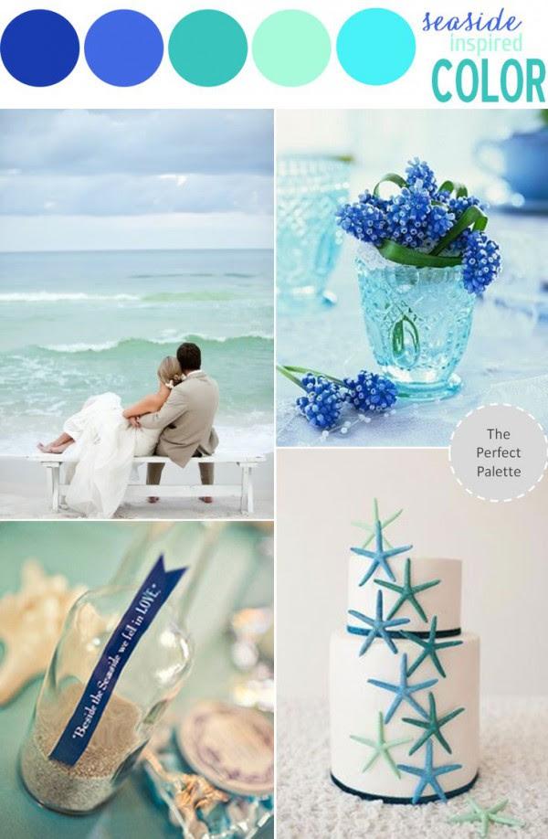 Beach Wedding Color Theme: Let the Sea Inspire Your Choice ...