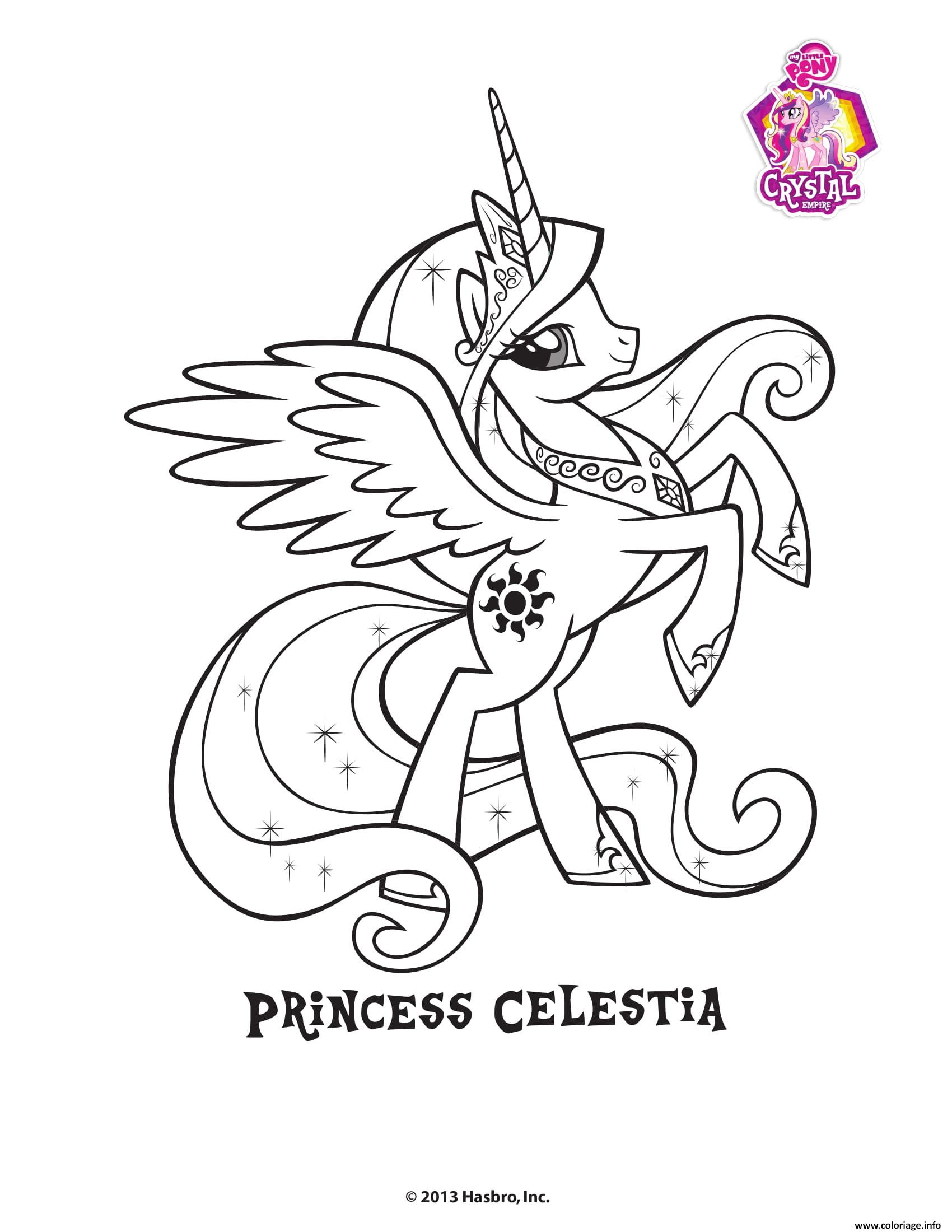 Coloriage Princesse Celestra Crystal Empire My Little Pony