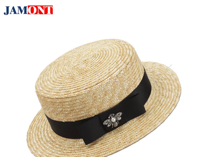 Comprar Sombrero De Sombreros Mujer Verano Playa Visera Paja Plano Superior  Moda Salvaje Decorativo Aire Libre Gorra Simple General Online Baratos  e04a4d93cb0