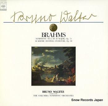 WALTER, BRUNO brahms; symphony no.2 in d major, op.73