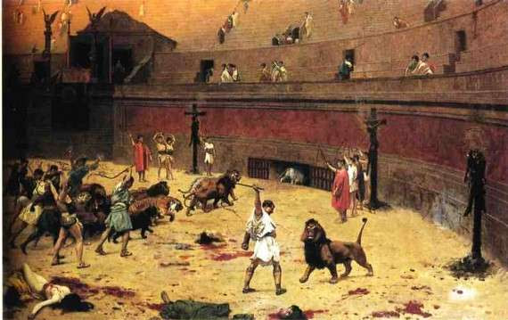 """""""Departure of Cats from the Circus"""" του Jean-Leon Gerome"""
